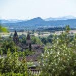 Panorama sur Saint Jean de Maruéjols et les Cévennes