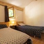 Chalet 4/6 personnes - Chambre 2 lits simples